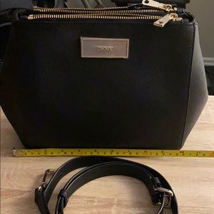 NWT DKNY saffiano crossbody BLACK